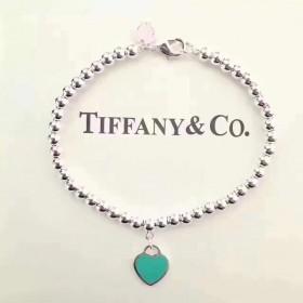 925纯银圆珠手链爱心银饰品送礼手环生日礼物