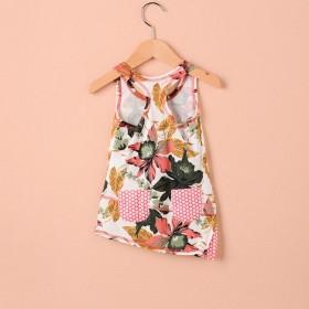 曼丝时尚潮流棉麻外贸出口品质童装连衣裙清仓