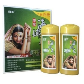 天然植物染发剂一洗黑洗发水700毫升