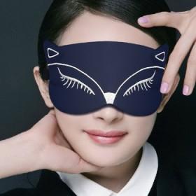 狐狸丝绸睡觉助眠卡通睡眠眼罩透气可爱遮光女庶眼刺绣