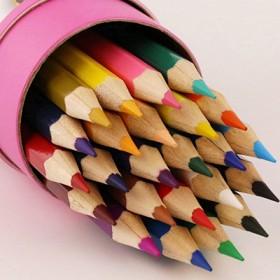 小树苗彩色铅笔24/36色学生儿童无毒画笔套装手绘
