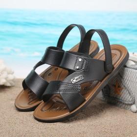 2017夏季新款男士跑江湖时尚沙滩凉鞋越南凉拖鞋