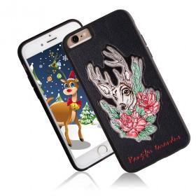iPhone6plus皮雕手机壳 立体浮雕保护外套