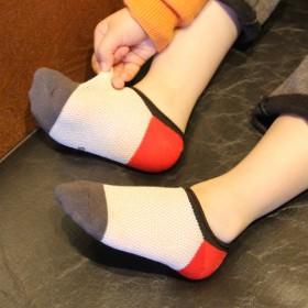 儿童袜子2017新款宝宝网眼透气隐形船袜5双装