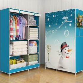 超大加固加厚帆布简易衣柜折叠衣柜组合布艺衣橱布衣柜