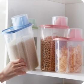 3件大号2.5L塑料密封罐食品储物罐五谷杂粮罐收纳