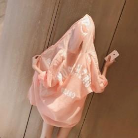 夏季连帽糖果色防晒衣 女中长款空调衫外套
