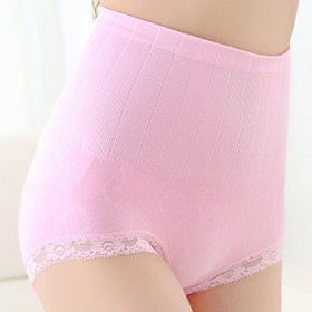 4条包邮纯棉收腹裤薄款蕾丝花边高腰提臀塑身美体无痕