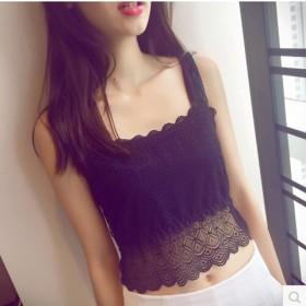 百搭蝴蝶结吊带抹胸美背性感短款小背心裹胸女薄
