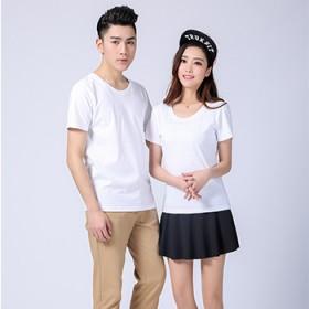 定制手绘白色T恤衫