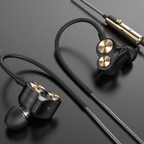 双动圈耳机入耳式通用线控带麦