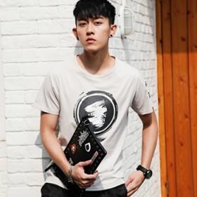 牛奶丝绵  夏季男生短袖t恤韩版潮修身青少年