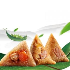 6粽3口味经典鲜肉粽板栗肉粽蛋黄肉粽
