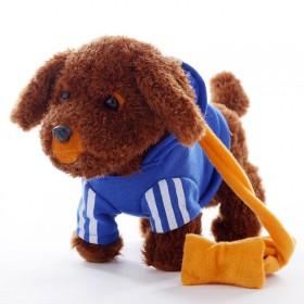 儿童电动牵绳狗毛绒玩具狗狗走路会唱歌小狗玩具狗狗仿