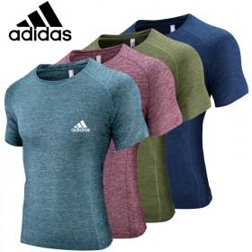 阿迪达斯夏季短袖圆通T恤运动休闲男士速干衣