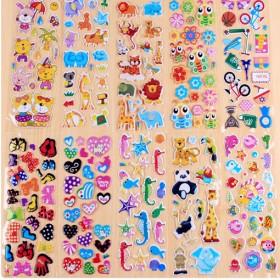 【30张】儿童卡通动漫泡沫贴纸奖励立体贴画宝宝贴纸