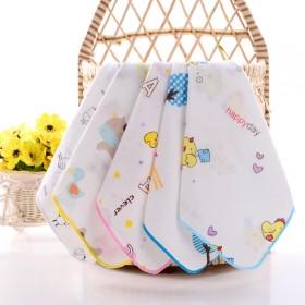 4层纱布口水巾宝宝手帕薄款手绢洗脸巾新生婴儿毛巾无