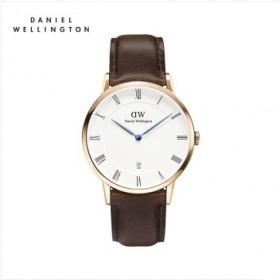 丹尼尔惠灵顿dw蓝针手表男女款情侣款手表防水超薄