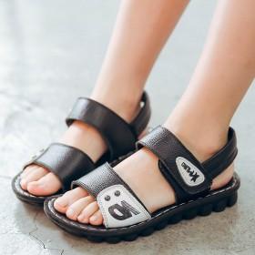 韩版男童凉鞋2017夏季新款真皮软底儿童凉鞋沙滩鞋