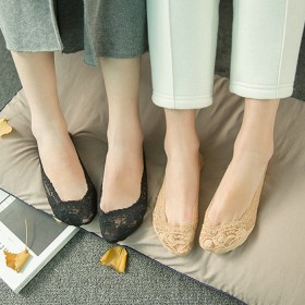 【5双】女士蕾丝隐形袜子防滑不掉跟女袜子