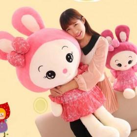 可爱兔子公仔布娃娃米菲兔玩偶抱枕儿童压床娃娃毛绒玩
