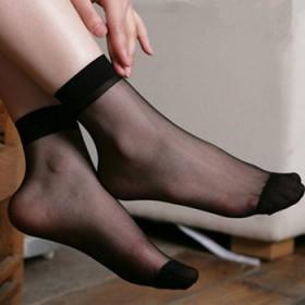 夏季水晶丝短丝袜超薄隐形透明透气短袜防勾丝肉色女袜
