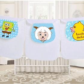 隔汗巾婴儿童吸汗巾纯棉 全棉垫背巾宝宝0-1-3-