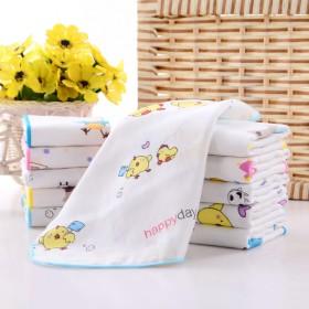 4层纱布口水巾宝宝手帕手绢洗脸巾新生婴儿毛巾无荧光