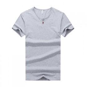 夏季大码短袖T恤男修身圆领上衣