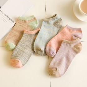 袜子女短袜夏季浅口隐形女袜纯色女士短筒棉袜防滑运动