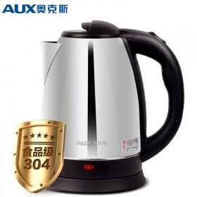 奥克斯电水壶 304不锈钢食品级电热水壶 自动断电