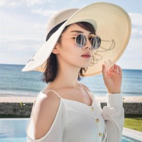 安迪同款大沿草帽度假沙滩出行必备防晒太阳帽