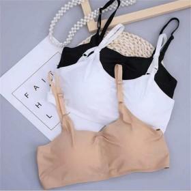 夏季冰丝短款性感裹胸透气冰丝面料三排后扣无钢圈抹胸