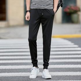 夏季薄款修身休闲小脚裤男士束脚裤