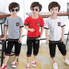 男童夏装2017新款套装儿童运动两件套韩版夏季潮衣