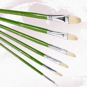 谢德堂515猪鬃画笔油画笔长杆排笔适用水粉水彩丙