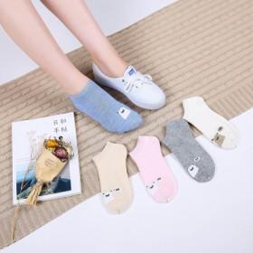 袜子女夏季短袜棉袜韩国薄款船袜低帮浅口隐形女袜短筒