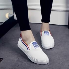 小白鞋女系带厚底春季单鞋子女2016新款韩版百搭运