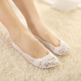 【5双】送1双颜色自选防滑浅口隐形蕾丝船袜女袜子
