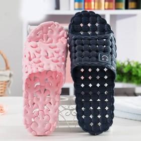 镂空浴室拖鞋女夏季居家居情侣室内防滑漏水洗澡塑料凉