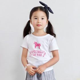 韩版女童短袖T恤