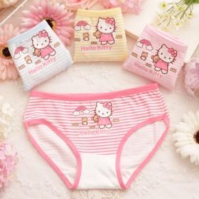 4条装 女童纯棉三角内裤宝宝内裤2-4-8-10岁