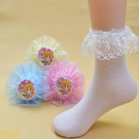 儿童袜子春秋夏公主蕾丝花边网眼女童舞蹈夏袜透气薄款