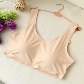 夏季冰丝女短款防走光抹胸裹胸带胸垫吊带背心冰丝