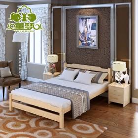 【限地区】松木单人床 实木双人成人床