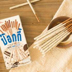 泰国进口零食格力高pocky草莓巧克力饼干棒12盒