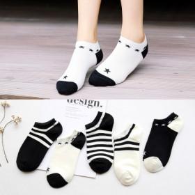 袜子女短袜纯棉春夏季隐形袜船袜女防臭浅口可爱女士
