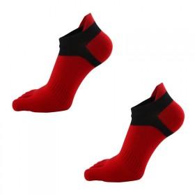 五指袜男运动耐磨防臭吸汗纯棉四季袜子短筒分趾袜