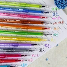 【12支】彩色水笔中性笔钻石头0.5mm针管笔