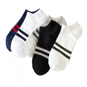 【5双】英伦风男袜船袜夏季薄款纯棉袜子
